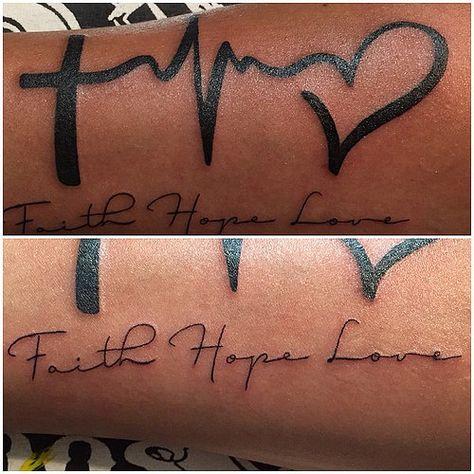 faith hope love heartbeat tattoo - Google Search