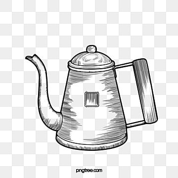 Coffee Line Drawing Coffee Pot Black And White Lineart Black And White Coffee Line Drawing Png Transparent Clipart Image And Psd File For Free Download In 2021 Coffee Cup Drawing Coffee