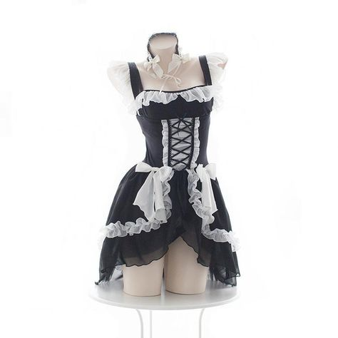 Details about  /Sexy Lingerie Uniform Women Cosplay Costume Maid Girl Maid Outfit Set Bodysuit