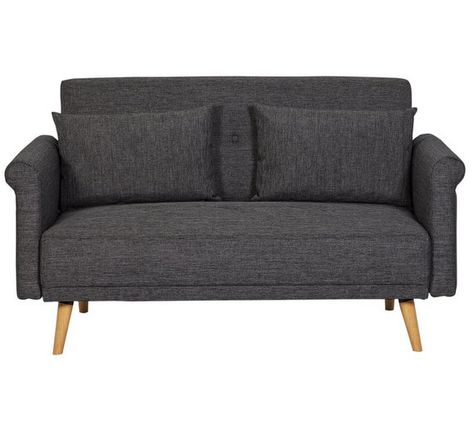 Sensational Home Evie 2 Seater Fabric Sofa In A Box Charcoal Squirreltailoven Fun Painted Chair Ideas Images Squirreltailovenorg