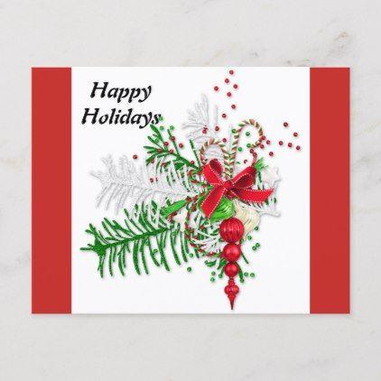 Merry Christmas Postcards Postal Family