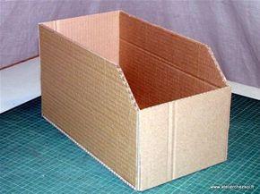 Tuto Diy Casier En Carton Casier Assemble Rangement Carton Casier Rangement Rangement Papier