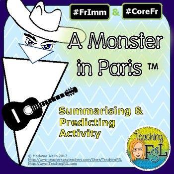 Summary Activity For Un Monstre A Paris Animated Movie