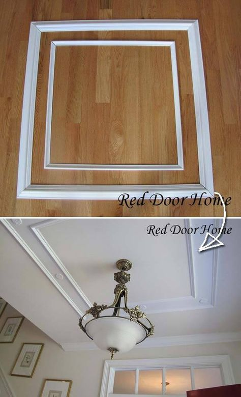 Looking for an easy and inexpensive way to dress up your old furniture or upgrade the look of indoor space? If yes, then how about adding some decorative molding to home? Decorating with molding is a fabulous idea that will have a plain space to get a pol Inexpensive Home Decor, Easy Home Decor, Cheap Home Decor, Home Improvement Projects, Home Projects, Home Renovation, Home Remodeling, Cheap Remodeling Ideas, Cheap Renovations