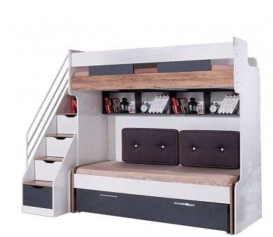 Hochbett Compact 90x200 Cm Mit Kleiderschrank Und Schreibtisch