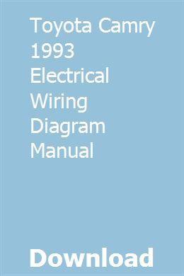 toyota camry 1993 electrical wiring diagram manual 3 wire speed sensor diagram toyota camry wiring diagram wiring