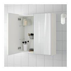 Lillangen Mirror Cabinet With 2 Doors White Mirror Cabinets