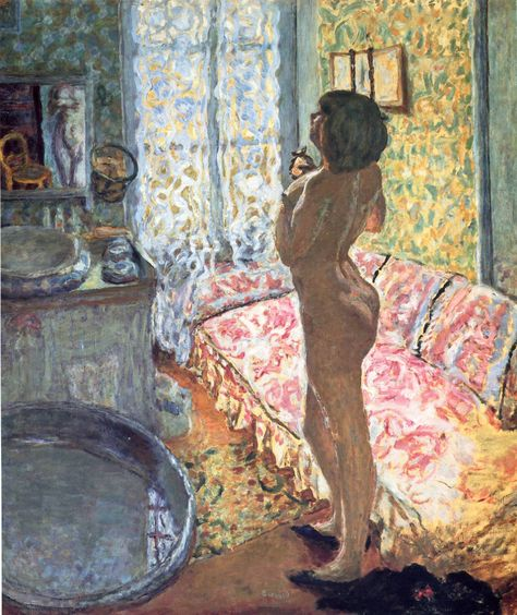 Nude against the Light - Bonnard, Pierre (French, 1867 - Fine Art Reproductions, Oil Painting Reproductions - Art for Sale at Galerie Dada Pierre Bonnard, Famous Impressionist Paintings, Indian Paintings, Oil Paintings, Landscape Paintings, Oil Canvas, Art Français, Oil Painting Abstract, Watercolor Artists