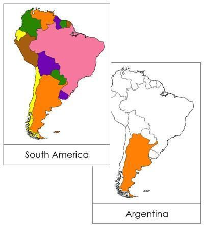 South America Flashcards (color-coded) | South america ...