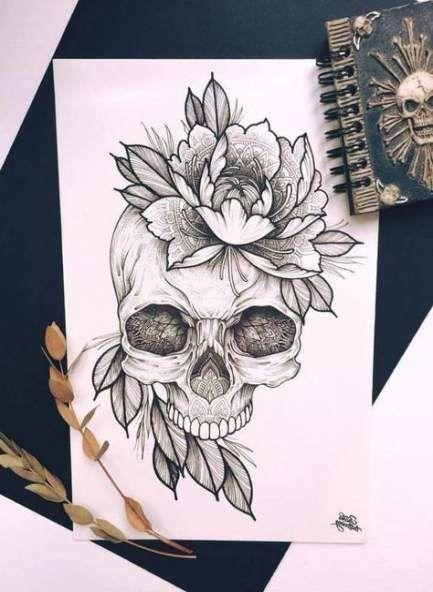 Tattoo Designs Ideas Draw Sugar Skull 62 Ideas Tattoos Skull Tattoos Skull Drawing