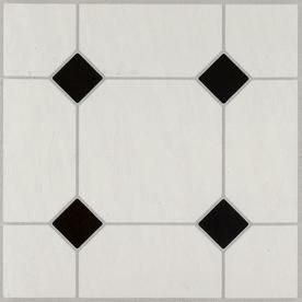 Armstrong Flooring 45 Piece 12 In X 12 In Black White Peel And Stick Vinyl Tile Lowes Com White Vinyl Flooring Vinyl Tile Peel And Stick Floor