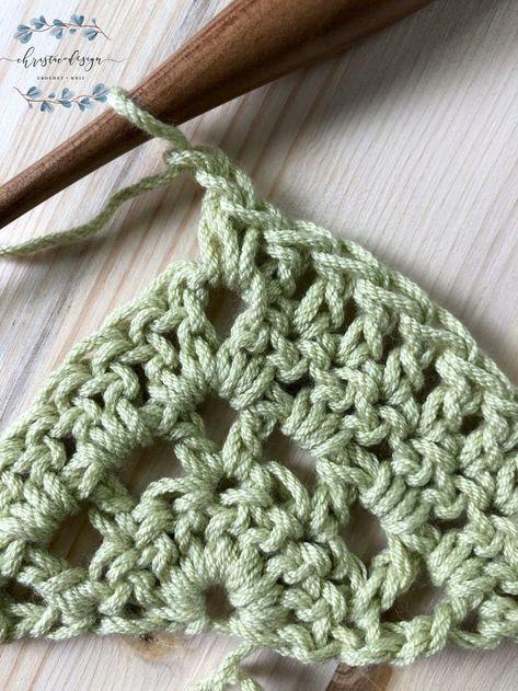 Lilla Crochet Triangle Shawl