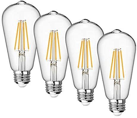 Vintage Led Edison Bulb Dimmable 8w Led Filament Light Bulb St64 840 Lumen 3000k Soft White 75 100 W In 2020 Filament Bulb Lighting Clear Light Bulbs Filament Lighting
