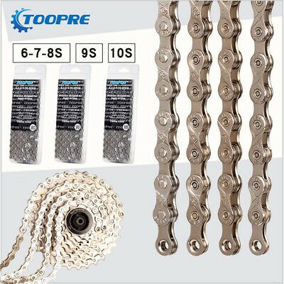 Bicycle MTB Bike Chain 6//7//8 9 10 Speed Carbon Steel 116 Link Chain Ultra-Light