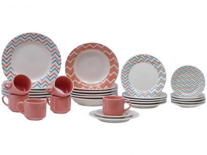 Aparelho De Jantar Cha 30 Pecas Biona Ceramica Redondo 079768