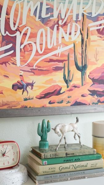 Homeward Bound Vintage Painting Boy Room Art Painting