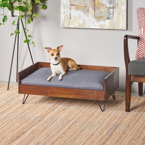 Kaylor Mid Century Modern Dog Sofa Midcentury Modern Wood Dog