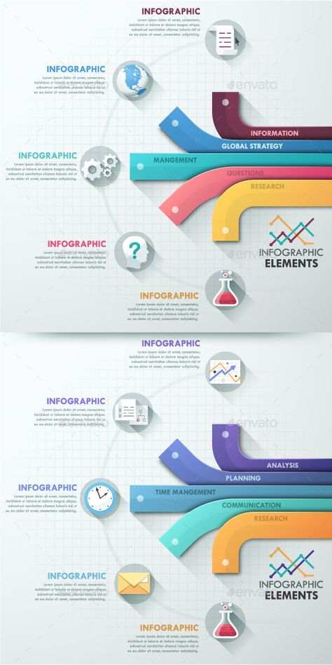 Modern Infographic Options Template (2 Colors) — Photoshop PSD #layout #website • Available here → https://graphicriver.net/item/modern-infographic-options-template-2-colors/10758813?ref=pxcr