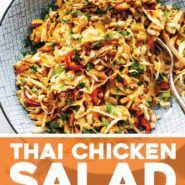 Recette De Salade De Poulet Thaï Thaï - #de #Poulet #Recette #recettefacile #recettesouper #recettevegetarienne #recettesgateau #recettesvegan #Salade #thaï