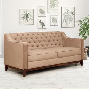Tesoro Fabric Sofa 3 Seater Brown