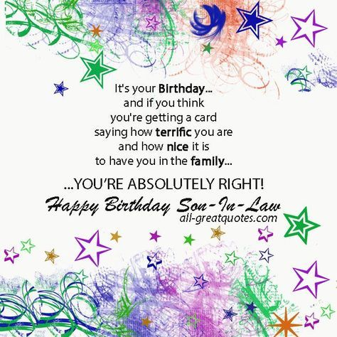 30 Ideas Birthday Quotes For Son In Law Happy With Images