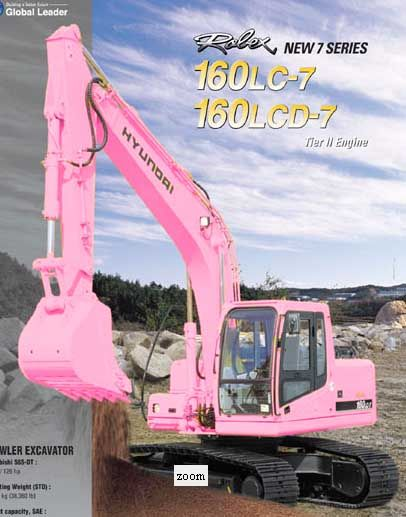Now What girl doesn't need a pink excavator?