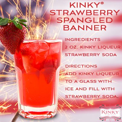 KINKY Strawberry Spangled Banner #recipe #cocktail #drink #patriotic