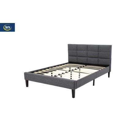 Home Upholstered Platform Bed Box Bed Tufted Headboard