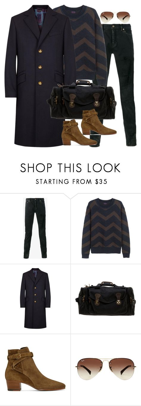 """""""Inspired by Harry Styles."""" by nikka-phillips ❤ liked on Polyvore featuring Yves Saint Laurent, H&M, Vivienne Westwood, Rothco, Ray-Ban, men's fashion and menswear"""