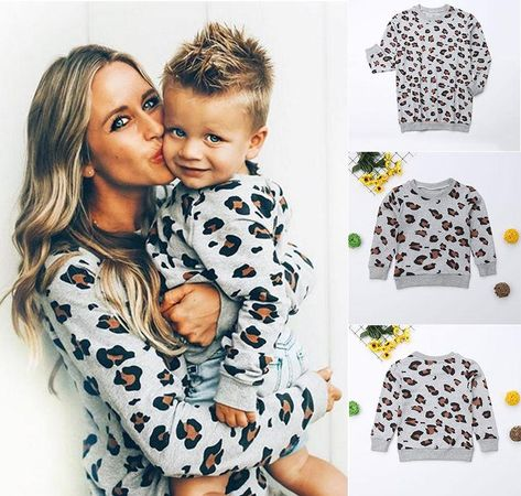 Mommy & Me Leopard Print Matching Sweaters - 6-12 Months