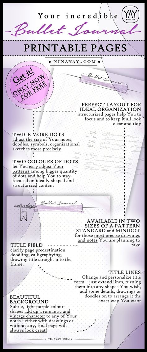 PRINTABLE BULLET JOURNAL PAGES   ONLY NOW FOR FREE   Bonus For THE   Printable  Address  Printable Address Change Form