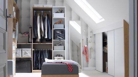 Dossier Le Rangement Du Dressing Dressing Sous Combles Meuble