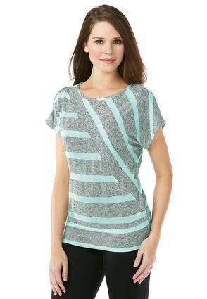 594ac1abf704f But in pink. Cato Fashions Diagonal Panel Stripe Knit Top ...