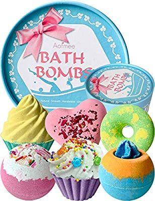 Aofmee Bath Bombs Gift Set Handmade Lush Bubble And Floating
