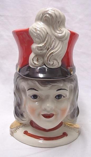 Regal China Vintage Drum Majorette Cookie Jar