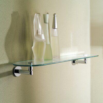 Ginger Sine Wall Shelf Finish Polished Chrome Glass Shelves