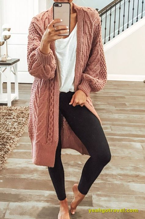Casual Outfits For Work, Casual Winter Outfits, Cute Comfy Outfits, Business Casual Outfits, Casual Summer Outfits, Comfy Winter Outfit, Fall Outfits For School, Comfy Legging Outfits, Leggings Outfit Summer Casual