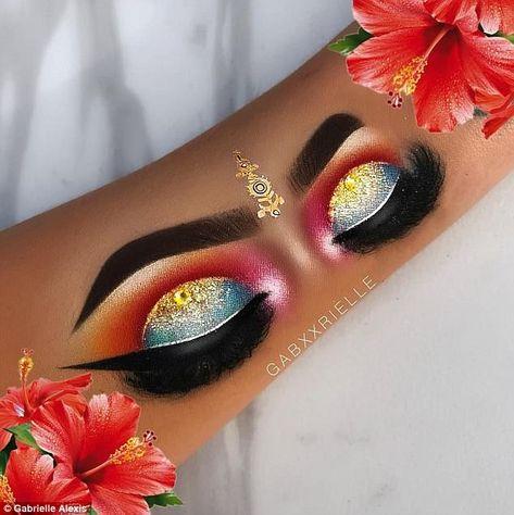 Woman Creates Realistic Eye Makeup Tutorials On Her Forearm Hand