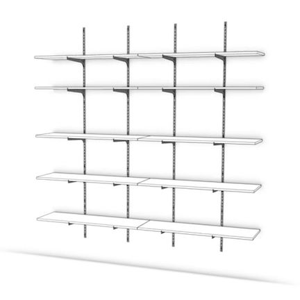 How To Install Single Or Twin Track Knape Vogt Style Wall Mounted Adjustable Shelving Wall Bookshelves Track Shelving Wall Mounted Shelves