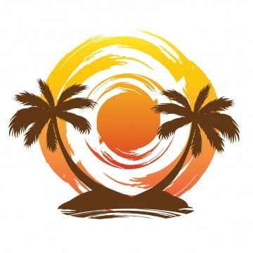 Beach Sunset Palm Tree Logo Beach Clipart Logo Icons Tree Icons Png And Vector With Transparent Background For Free Download In 2021 Tree Icon Beach Clipart Palm Tree Vector