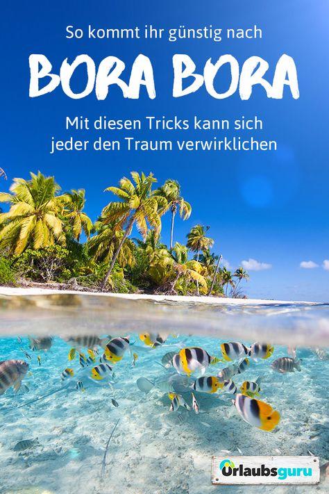 Bora Bora gehört bei vielen auf die Bucketlist. Kein Wunder, die begehrtesteInsel der Welt belohnt euch mit ihrer atemberaubenden Schönheit. Erfahrt jetzt, wie ihr günstig nach Bora Bora kommt.  #borabora #südsee #bucketlist #spartipps #reisetipps #traumziel #flitterwochen #traumurlaub #reisen #wanderlust #travel #reiseführer #urlaub