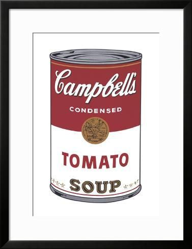 Framed Art Print Campbell S Soup I Tomato 1968 By Andy Warhol 35x27in Warhol Campbell S Soup Cans Andy Warhol Art