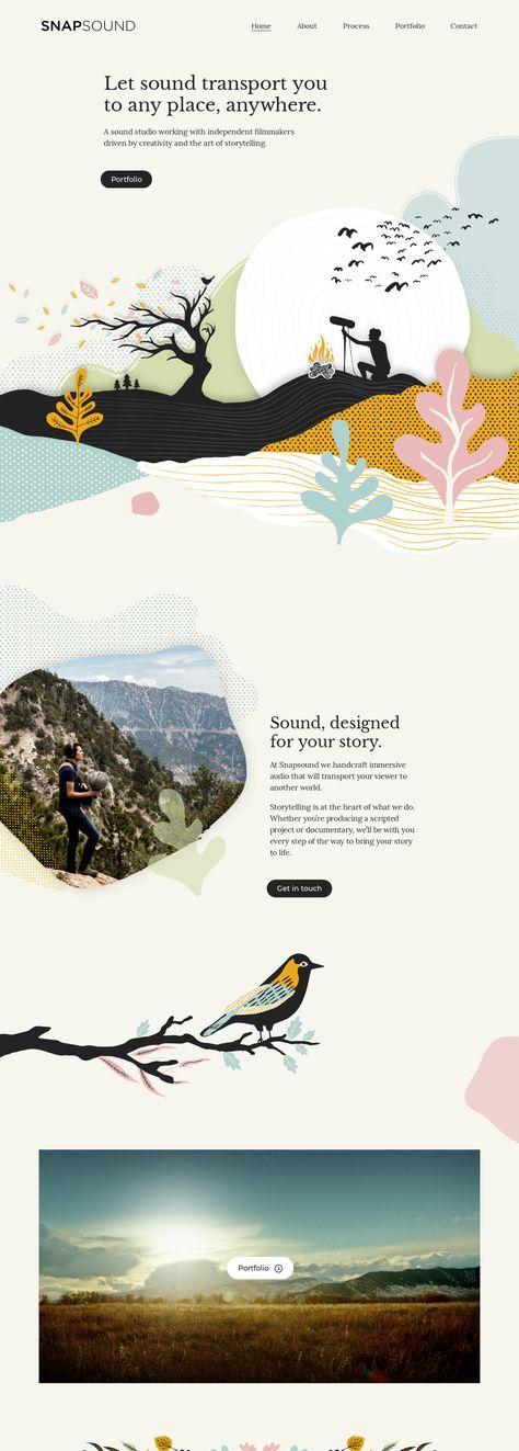 Landing Page Example: snapsound.com