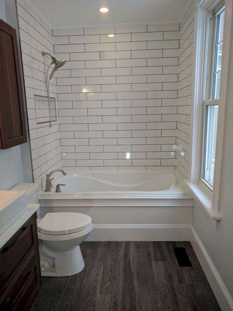 41+ Gorgeous Small Bathroom Remodel Bathtub Ideas #bathroomremodel #bathroomdesign #bathroomdecor