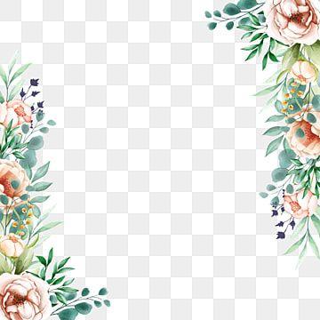 Hermoso Marco Lateral Floral Marco Marco Floral Escardar Png Y Vector Para Descargar Gratis Pngtree In 2020 Flower Frame Floral Background Floral Watercolor