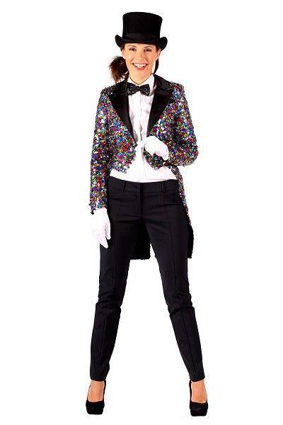 Glitter rokjas multicolour dame is een geheel gevoerde jas