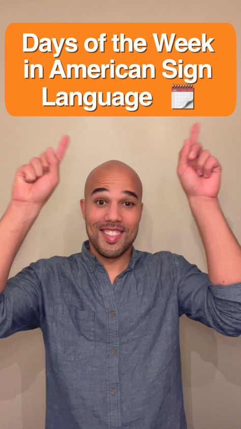 Days of the Week in American Sign Language ASL
