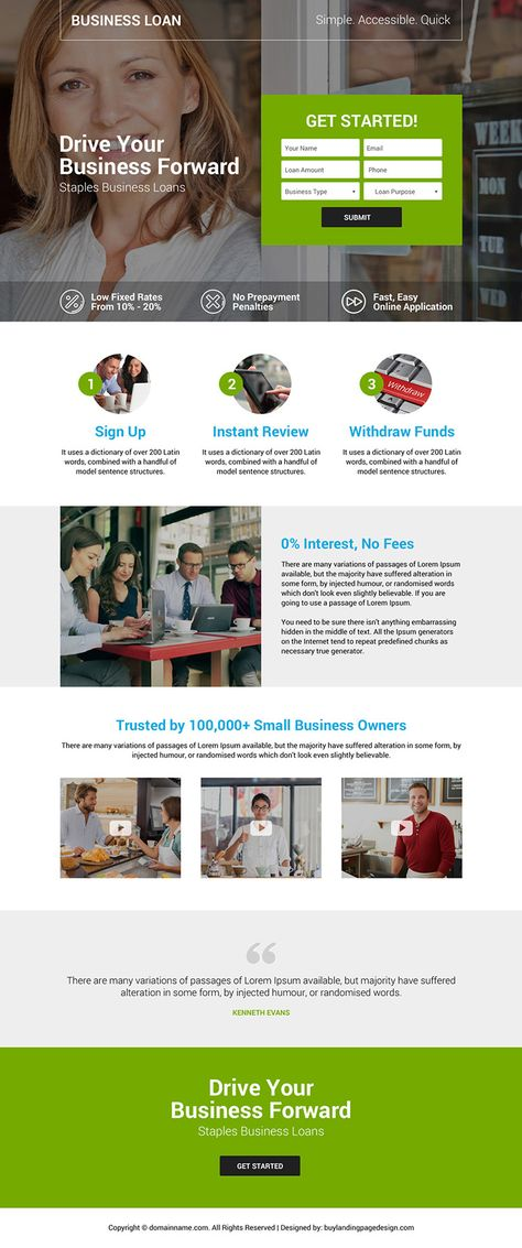 business-loan-services-landing-page-020 | Business Loan Landing Page Design preview.