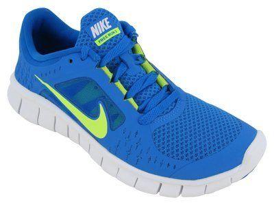 kids nike free runners blue