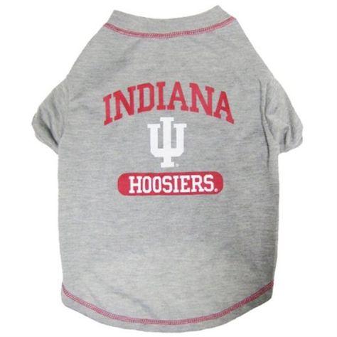 Indiana Hoosiers Dog T Shirt Indiana Hoosiers Pet Shirts